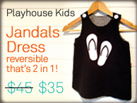 playhouse kids jandals dress, iconic kiwi kids clothing
